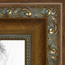 ArtToFrames 1.4 Inch Dark Gold with Beads Wood Picture Poste