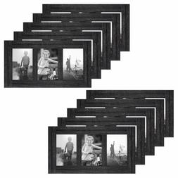Americanflat 10 Pack - 4x6 Charcoal Black Collage Distressed