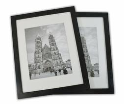 11x14 Photo Wood Frame with Mat  BLACK