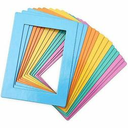 15-Pack Magnetic Picture Frames for Refrigerator, 5 Assorted