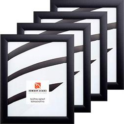 Craig Frames 1WB3BK 8.5 by 11-Inch Picture Frame 4-Piece Set