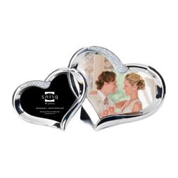 Prinz 2 Opening Two Hearts Silver Metal Frame