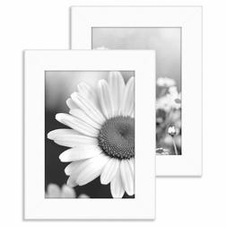 Americanflat 2 Pack - 4x6 White Tabletop Frames - Glass Fron