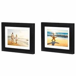 2 pack black picture frames with easel