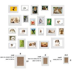 23pcs Multi Picture Photo Frames Wall Set Collage Home Weddi