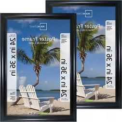 24 x 36 inch FRAMES Set of 2 Black Poster or Picture Sturdy