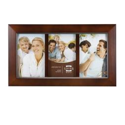 Prinz 3-Opening Dakota Dark Walnut Wood Collage frame for 4-