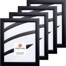 "Craig Frames 4-Pack Set, 1"" Wide Modern Black Picture Frames"