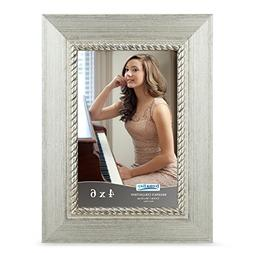 Icona Bay 4 by 6 Picture Frame  Photo Frame, Wall Mount Hang