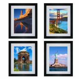 4Pcs Picture Photo Wall Frame Hanging Display Home Decor Bla