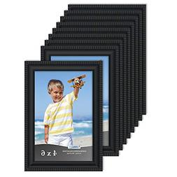 Icona Bay 4x6 Picture Frames 12 Pack, Black Picture Frame Se