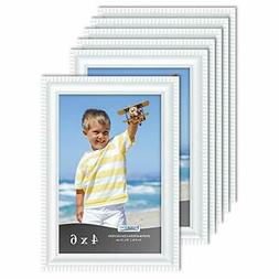 Icona Bay 4x6 Picture Frames , Beautifully Detailed Molding,