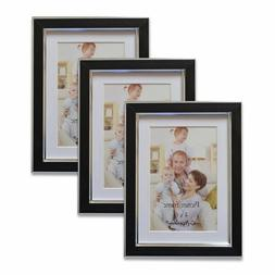 Giftgarden 4x6 w/ Mat or 5x7  Picture Frames for Wall, Black