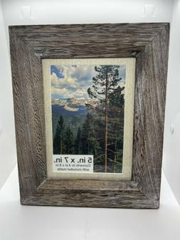 5x7 / 4x6 Wooden Photo Picture Frame Wall Hanging Rustic Wea