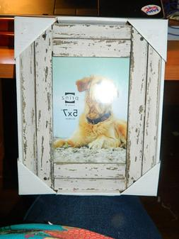 5x7 Distressed White Wood Planks Photo Picture Frame *New* P