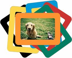 6 Colorful Magnetic Photo Frames Hold 4x6 Inch Pictures,Colo