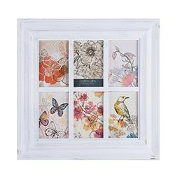 MELANNCO 6-Opening Window Pane Wall Mount Collage Picture Fr