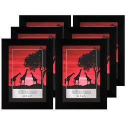 Americanflat 6 Pack - 4x6 Picture Frames - Display Pictures