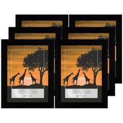Americanflat 6 Pack - 5x7 Picture Frames - Display Pictures