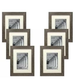 STUDIO 500 6-PACK~8x10-in Distressed Grey Picture Frames w/5