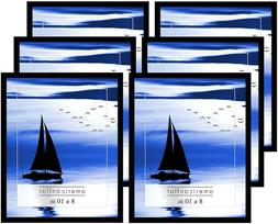 6 pack black picture frames with easels