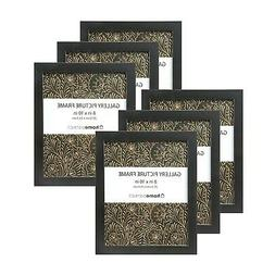 """6-Piece Picture Frame Set for 8""""x10"""" Photos, Easel Back & Wa"""
