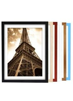 6 - White Picture Frames, 8 X 10 WHITE Photo Frames W/ Glass