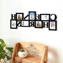 7-Opening CHERISH Collage Wood PICTURE Photo FRAME Banner Le