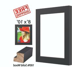 8' X 10' Black Wood Picture Frame Wall Mount Wide Frames Tab