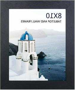 8x10 Black Picture Frame, Photo Frames for Wall Tabletop Dis