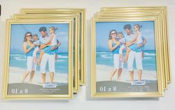 Icona Bay 8x10 Picture Frames 6 Pack, Gold Picture Frame Set