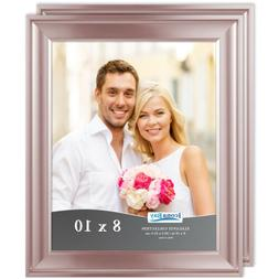 Icona Bay 8x10 Rose Gold Picture Frame, 2 Pack, Elegante Col