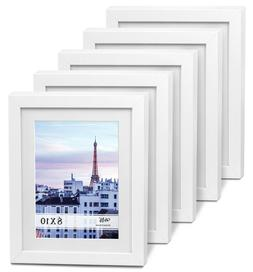"Cavepop 8x10"" White Wood Textured Picture Frames - Set of"