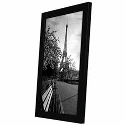 8x12 black picture frame shatter resistant glass