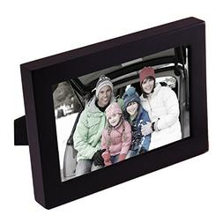 "Adeco 4x6"" Decorative Black Wood Picture Photo Frame for Wal"