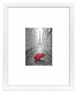 Americanflat 11x14 White Picture Frame - Display Pictures 5x