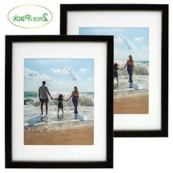 Amoy Art 2 Pack,11x14 Black Picture Photo Frames - Made to D
