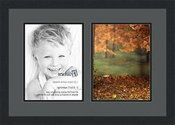 ArtToFrames Collage Photo Frame Double Mat with 2 - 8.5x11 O