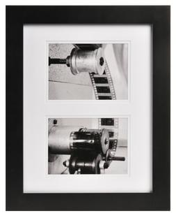 Carr Black 2-Opening Gallery Frame for 5-Inch by 7-Inch Phot