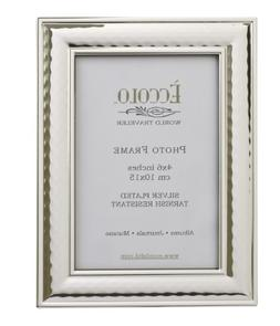 Eccolo World Traveler Hammered Silver Plated Frame, Holds a