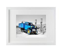 Frametory, 12x16 White Picture Frame - Made to Display Pictu