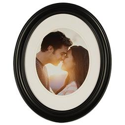 GALLERY SOLUTIONS 11x14 Black Oval Wall Frame Matted to Disp