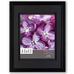 Gallery Solutions 11x14 Black Wood Wall Frame with Double Bl