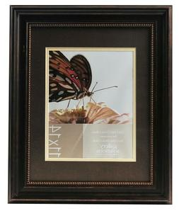 Gallery Solutions 11x14 Distressed Bronze Beaded Wall Frame