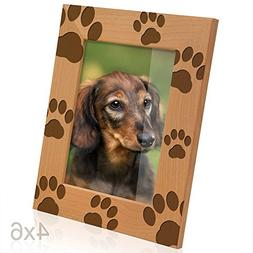 Kate Posh - Doggie Paw Prints Wooden Picture Frame