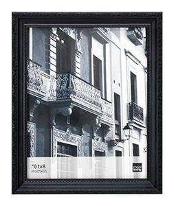 Kiera Grace Claire Picture Frame, 8 by 10 Inch, Black with R