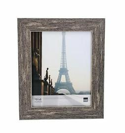 Kiera Grace Emery Picture Frame, 8 by 10 Inch, Weathered Gre