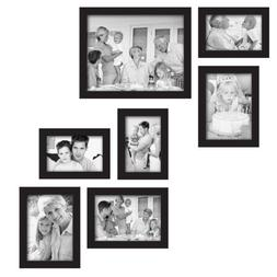 MCS 7-Piece Gallery Frame Set, Black