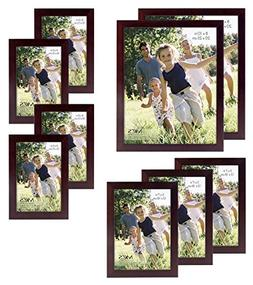 MCS Gallery Wood 9-Piece Frame Set, Espresso
