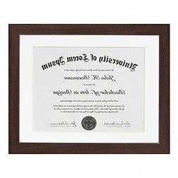 Mahogany Document Frame - Made to Display Documents sized 8.